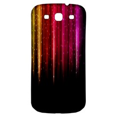 Rain Color Rainbow Line Light Green Red Blue Gold Samsung Galaxy S3 S Iii Classic Hardshell Back Case