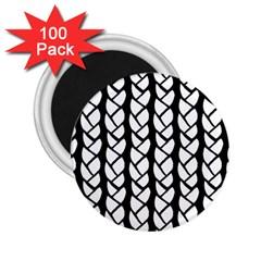 Ropes White Black Line 2.25  Magnets (100 pack)