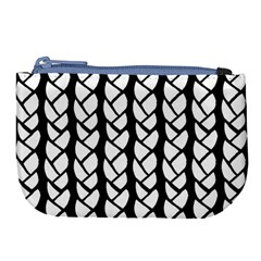 Ropes White Black Line Large Coin Purse