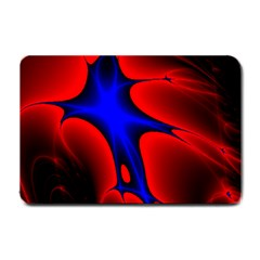 Space Red Blue Black Line Light Small Doormat