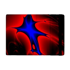 Space Red Blue Black Line Light iPad Mini 2 Flip Cases