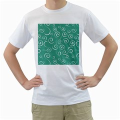 Pattern Men s T Shirt (white) (two Sided)