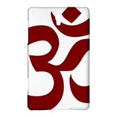 Hindu Om Symbol (Dark Red) Samsung Galaxy Tab S (8.4 ) Hardshell Case