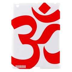 Hindu Om Symbol (Red) Apple iPad 3/4 Hardshell Case (Compatible with Smart Cover)