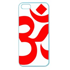 Hindu Om Symbol (Red) Apple Seamless iPhone 5 Case (Color)