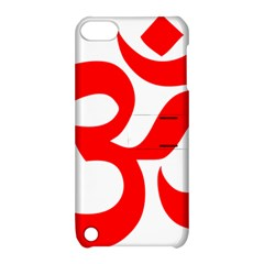 Hindu Om Symbol (red) Apple Ipod Touch 5 Hardshell Case With Stand