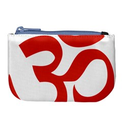 Hindu Om Symbol (red) Large Coin Purse
