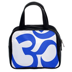 Hindu Om Symbol (Royal Blue) Classic Handbags (2 Sides)