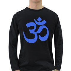 Hindu Om Symbol (Royal Blue) Long Sleeve Dark T-Shirts