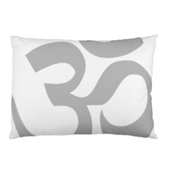 Hindu Om Symbol (Gray) Pillow Case (Two Sides)