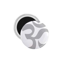 Hindu Om Symbol (Gray) 1.75  Magnets