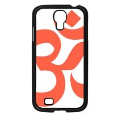 Hindu Om Symbol (peach) Samsung Galaxy S4 I9500/ I9505 Case (black)