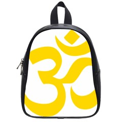 Hindu Om Symbol (yellow) School Bags (small)