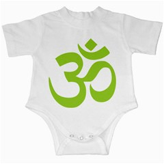 Hindu Om Symbol (Lime Green) Infant Creepers