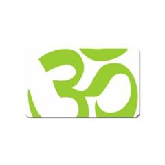 Hindu Om Symbol (Lime Green) Magnet (Name Card)