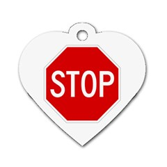 Stop Sign Dog Tag Heart (one Side)