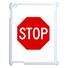 Stop sign Apple iPad 2 Case (White)