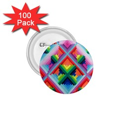 Rainbow Chem Trails 1.75  Buttons (100 pack)