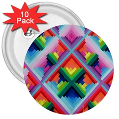 Rainbow Chem Trails 3  Buttons (10 Pack)