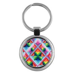 Rainbow Chem Trails Key Chains (round)