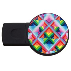 Rainbow Chem Trails Usb Flash Drive Round (2 Gb)