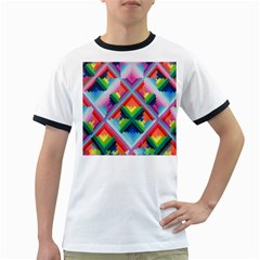 Rainbow Chem Trails Ringer T Shirts