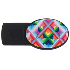 Rainbow Chem Trails Usb Flash Drive Oval (4 Gb)