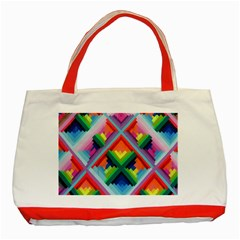 Rainbow Chem Trails Classic Tote Bag (Red)