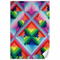 Rainbow Chem Trails Canvas 20  X 30