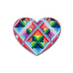 Rainbow Chem Trails Heart Coaster (4 pack)