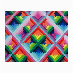 Rainbow Chem Trails Small Glasses Cloth (2-Side)