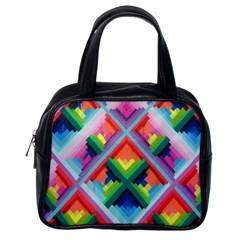 Rainbow Chem Trails Classic Handbags (One Side)