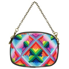 Rainbow Chem Trails Chain Purses (one Side)