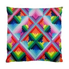 Rainbow Chem Trails Standard Cushion Case (one Side)