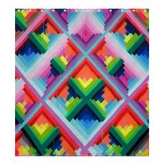 Rainbow Chem Trails Shower Curtain 66  x 72  (Large)