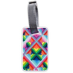 Rainbow Chem Trails Luggage Tags (One Side)