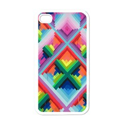 Rainbow Chem Trails Apple iPhone 4 Case (White)