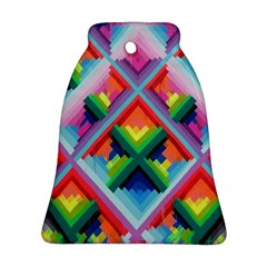 Rainbow Chem Trails Bell Ornament (Two Sides)