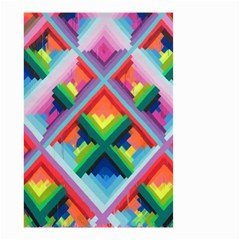 Rainbow Chem Trails Small Garden Flag (two Sides)