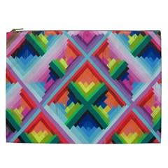 Rainbow Chem Trails Cosmetic Bag (xxl)
