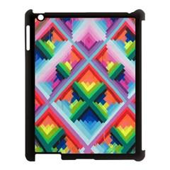 Rainbow Chem Trails Apple iPad 3/4 Case (Black)