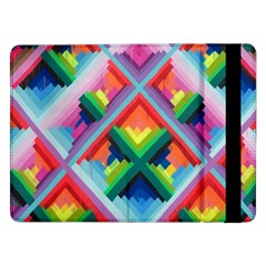 Rainbow Chem Trails Samsung Galaxy Tab Pro 12 2  Flip Case