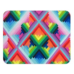 Rainbow Chem Trails Double Sided Flano Blanket (Large)