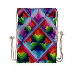 Rainbow Chem Trails Drawstring Bag (small)