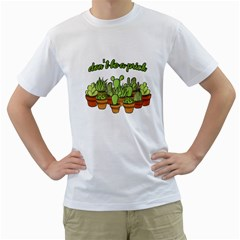 Cactus - Dont be a prick Men s T-Shirt (White) (Two Sided)