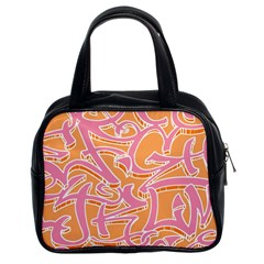 Abc Graffiti Classic Handbags (2 Sides)