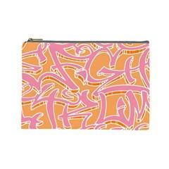 Abc Graffiti Cosmetic Bag (large)