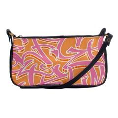 Abc Graffiti Shoulder Clutch Bags