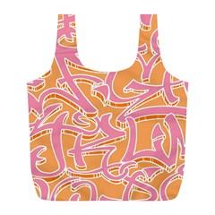 Abc Graffiti Full Print Recycle Bags (l)