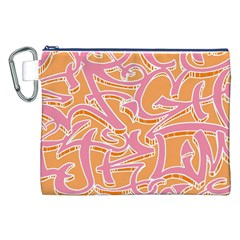 Abc Graffiti Canvas Cosmetic Bag (XXL)